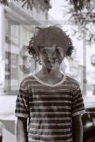 PORTRAIT SW ANALOG  GREECE 1986  GYPSY BOY - Fotoagentur Sofianos Wagner Muenchen
