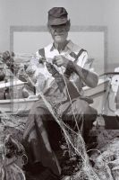 PORTRAIT SW ANALOG GREECE 1989 FISHERMAN II - Fotoagentur Sofianos Wagner Muenchen